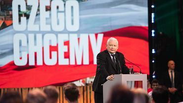24.06.2020, Lublin, Jarosław Kaczyński podczas Konwencji Forum Młodych PiS.