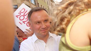 Walczący o reelekcję prezydent Andrzej Duda agituje we Wrocławiu. 4 lipca 2020