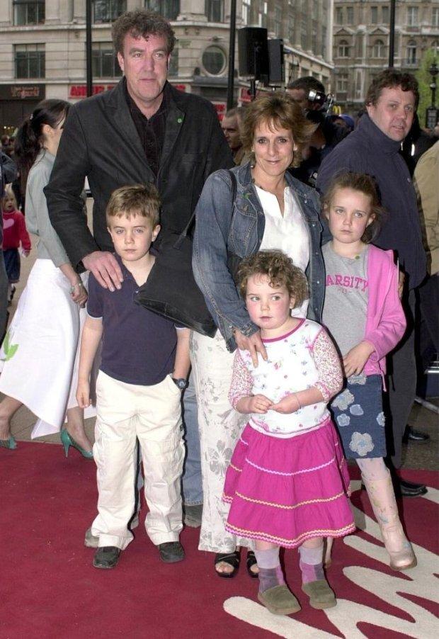 Jeremy Clarkson z żoną Frances i rodziną