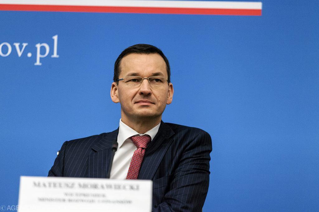 Minister Rozwoju i Finansow Mateusz Morawiecki