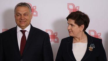 Premier Węgier Viktor Orban i premier Beata Szydło rzadow panstw Grupy Wyszehradzkiej