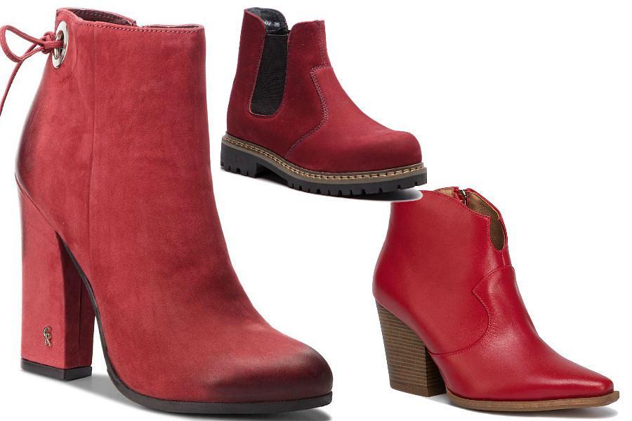 Buty damskie czerwone