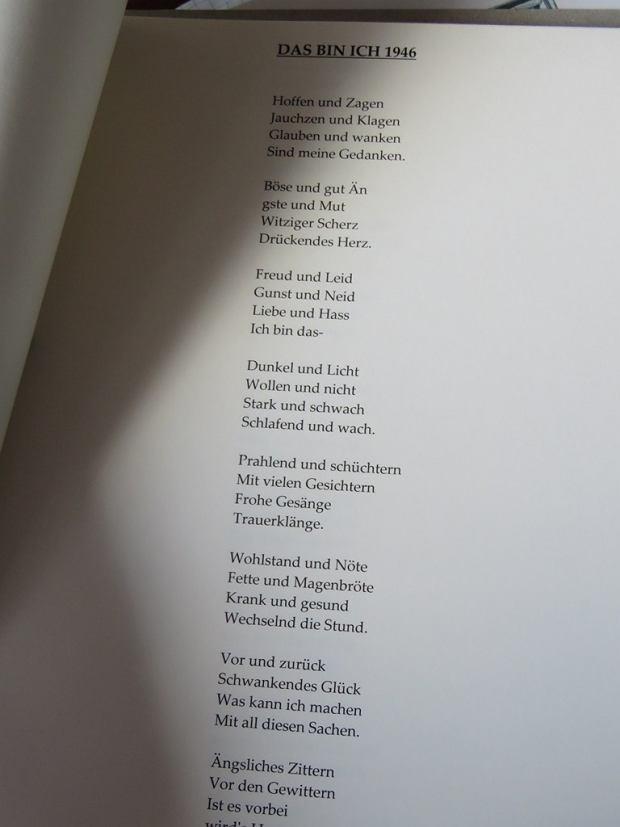 Arnold Leissler, 109-letni Niemiec, architekt, malarz,  poeta z Hanoweru mieszka u swojej opiekunki Grażyny Jędrzejczak w Stawie koło Lubiszyna. Jeden z jego wierszy z tomu wydanego kilka lat temu .