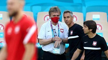 Zbigniew Boniek i Paulo Sousa na treningu przed meczem Polska - Hiszpania na Euro 2020