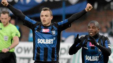Michał Masłowski świętuje gola na 2:1