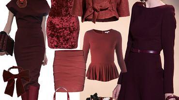 Kolor z wybiegów - burgund