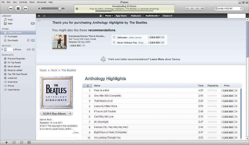 sklep iTunes Music Store w wersji polskiej