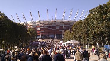 Pierwsze publiczne zamykanie dachu na Stadionie Narodowym w Warszawie - 2 października 2011 r.