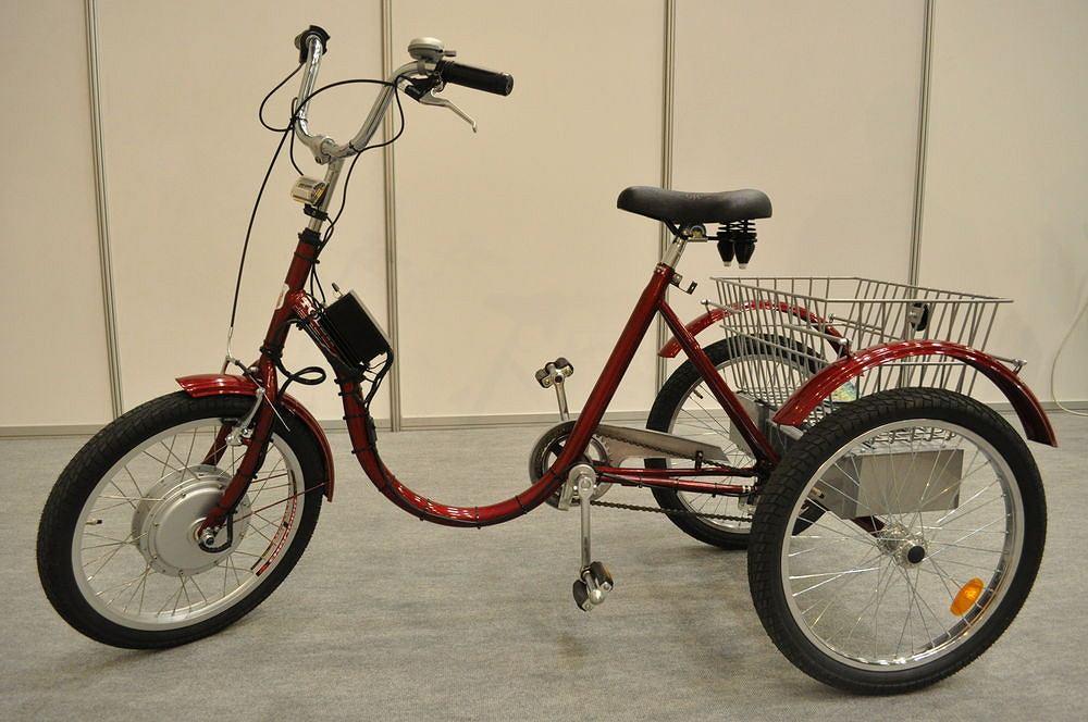 Trójkołowy rower Tolek ze wspomaganiem elektrycznym