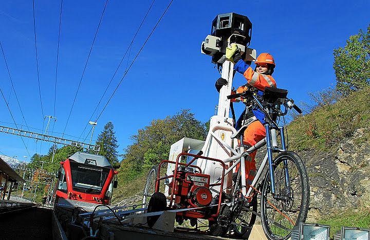 Google Street View w pociągu