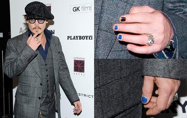Męski manicure według Johnny'ego Deppa