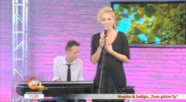 Magda Steczkowska w Dzień Dobry TVN (zdjęcie archiwalne)
