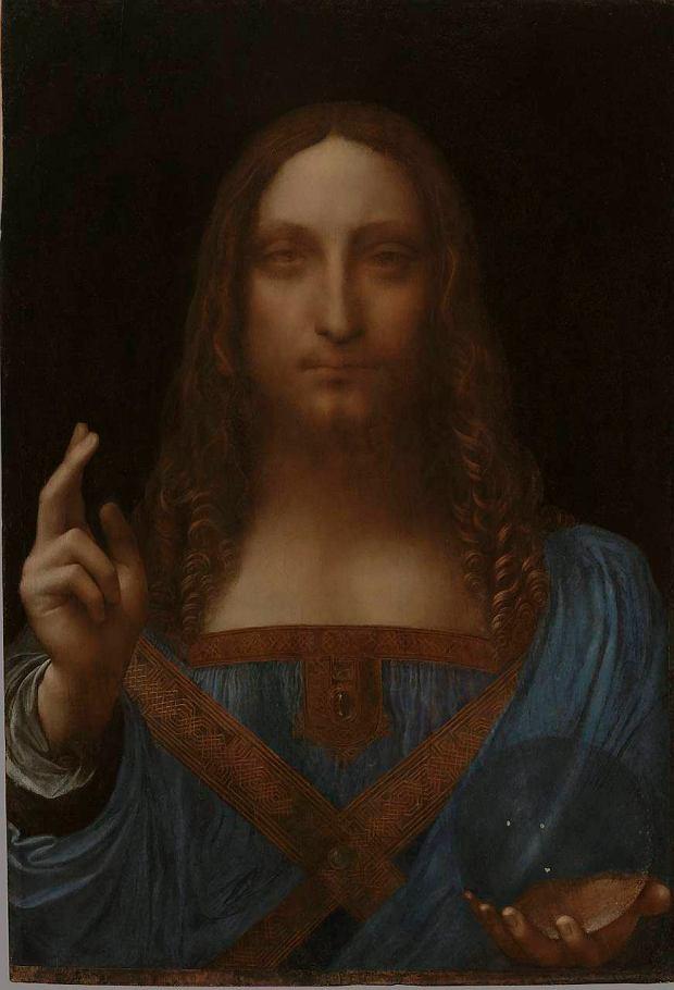 Leonardo da Vinci 'Chrystus Zbawiciel', 1499 r.