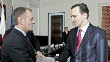 Donald Tusk i Radosław Sikorski