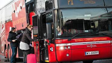 Autokar PolskiBus relacji Gdańsk - Warszawa