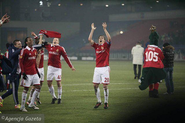 Kibice i zawodnicy Wisły świętują awans