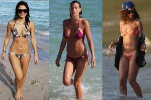 Maria Menounos, Claudia Galanti, Rihanna.
