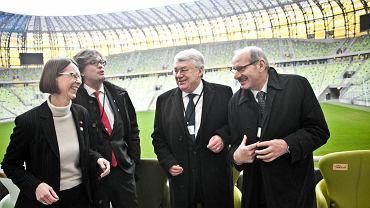 Od lewej: konsul generalna Niemiec w Gdańsku Annette Klein, radca ambasady Hiszpanii Bruno Garcia-Dobarco Gonzalez, ambasador Irlandii Eugene Hutchinson oraz ambasador Republiki Chorwacji Ivan Del Vechio.