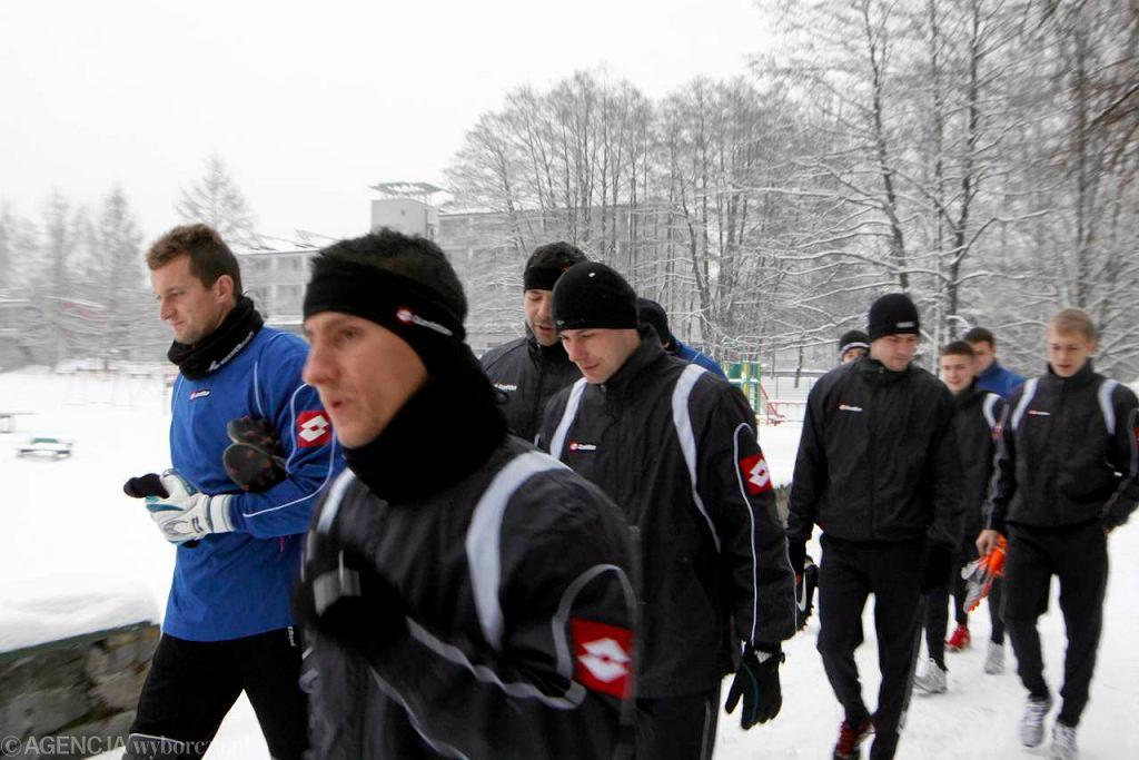 Zgrupowanie piłkarzy Ruchu Chorzów w Kamieniu koło Rybnika