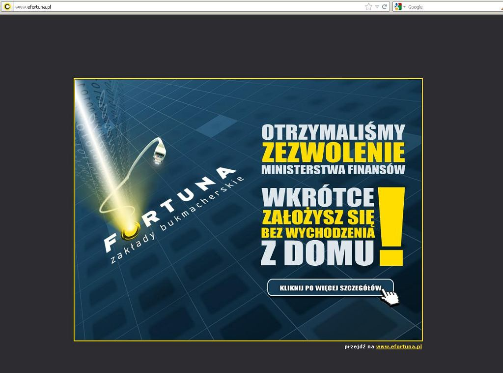 Firma Fortuna będzie prowadzić legalne zakłady bukmacherskie w Sieci dla polskich klientów