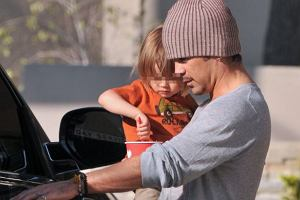 Colin Farrell z synem.
