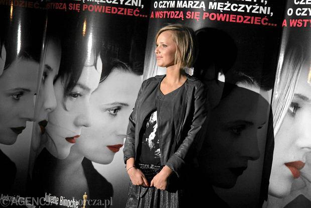 """06.02.2012 WARSZAWA , AKTORKA JOANNA KULIG PODCZAS PREMIERY FILMU """" SPONSORING """" W REZYSERII MALGORZATY SZUMOWSKIEJ . FOT. WOJCIECH SURDZIEL / AGENCJA GAZETA SLOWA KLUCZOWE: KINO PREMIERA AKTORZY"""