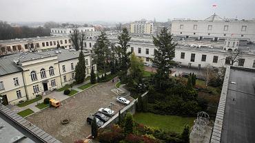 Widok z dachu nowego Domu Poselskiego