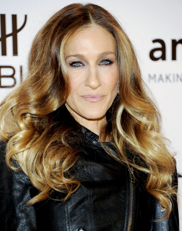 Actress Sarah Jessica Parker attends amfAR's New York gala benefit at Cipriani Wall Street on Wednesday, Feb. 8, 2012 in New York. (AP Photo/Evan Agostini)