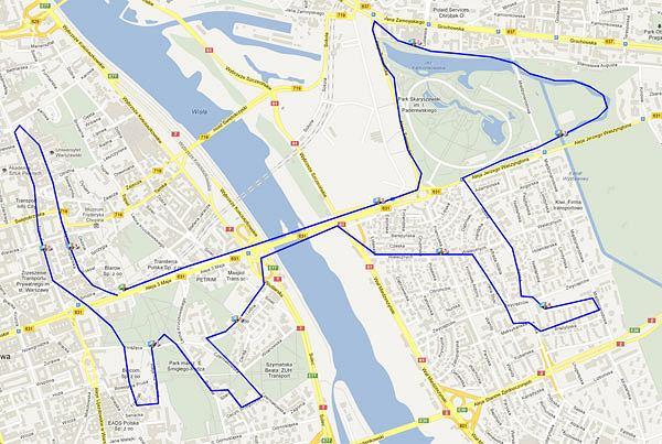 runningmap.com piesek