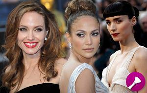 makijaże gwiazd, fryzury gwiazd, oscary 2012, gwiazdy, sławne kobiety, najpiękniejszy makijaż, najpiękniejsza fryzura, rozdanie oscarów 2012, Nagroda Akademii Filmowej
