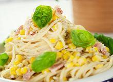 Spaghetti z kukurydzą i boczkiem - ugotuj