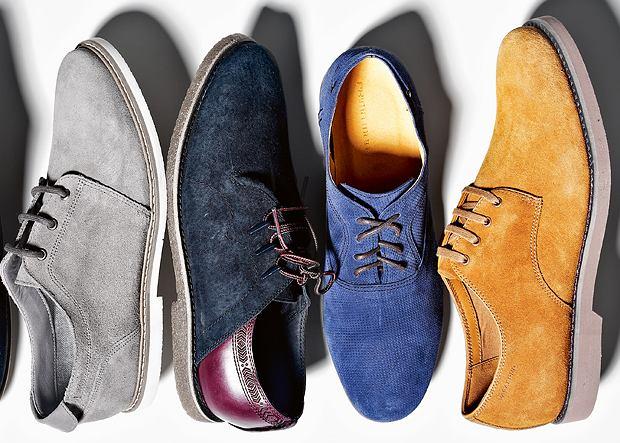 Zamszowe buty na wiosnę