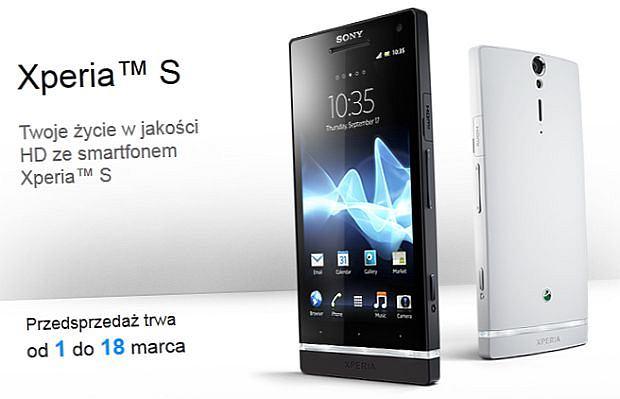 Sony Xperia S w przedsprzedaży