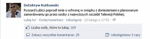 Fot. za Facebook.com/Detektyw Rutkowski