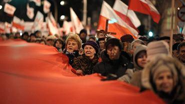 Demonstracja PiS przeciw podniesieniu wieku emerytalnego