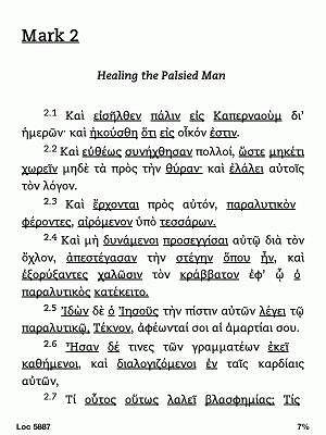 Kindle Touch - grecki tekst