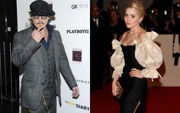 Johnny Depp, Ashley Olsen.