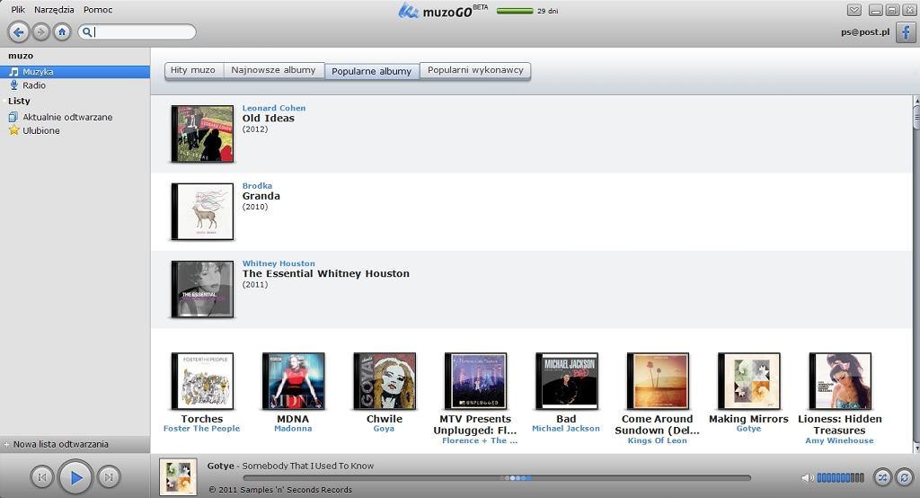 Aplikacja Muzo na Windows