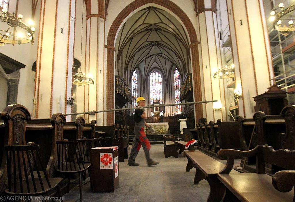 Konserwacja wnętrza archikatedry św. Jana