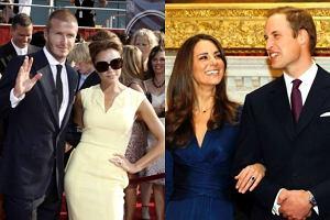 Victoria i David Beckham, książę William i księżna Katherine.