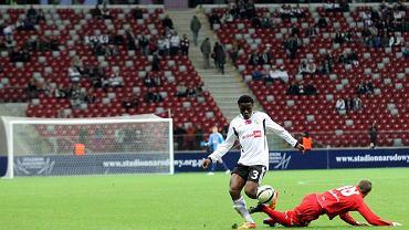 Mecz Legia - Sevilla na Stadionie Narodowym. Albert Bruce