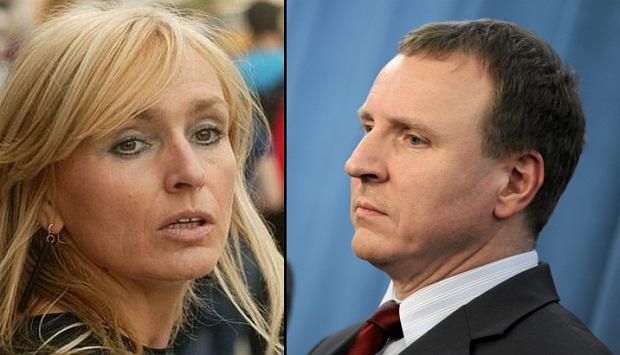 Monika Olejnik i Jacek Kurski