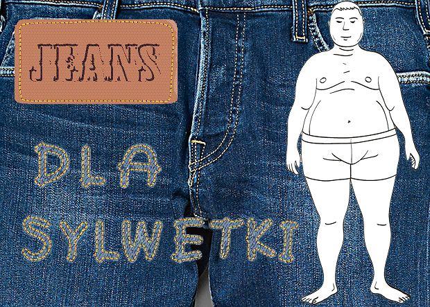 Jeansy dla panów z brzuszkiem