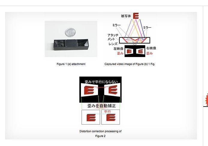 Adapter Fujitsu umożliwiający wykonywanie filmów 3D przy użyciu każdego smartfona