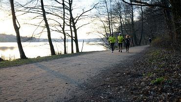 Ścieżki biegowe w Poznaniu, nad Jeziorem Rusałka