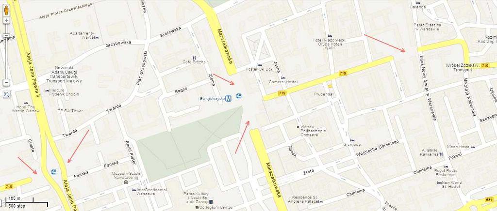 Usunięte z plany Warszawy ulice