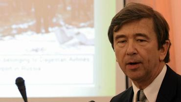 Profesor Wiesław Binienda w 2012 r. podczas posiedzenia zespołu Macierewicza