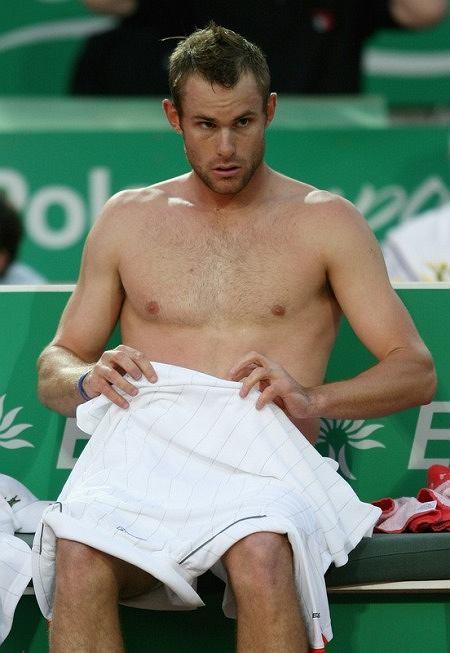 Andy Roddick - ładna klata...