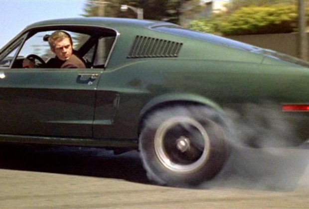Steve McQueen w słynnej scenie z filmu Bullitt