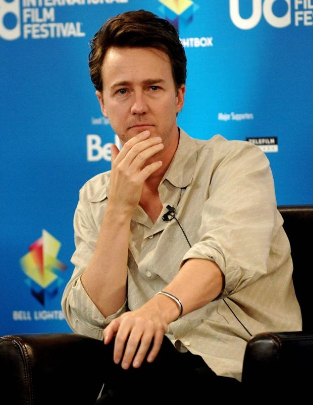 Actor Edward Norton participates in a news conference for the film